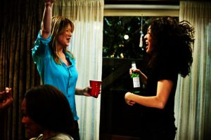 Meredith and Cristina dancing